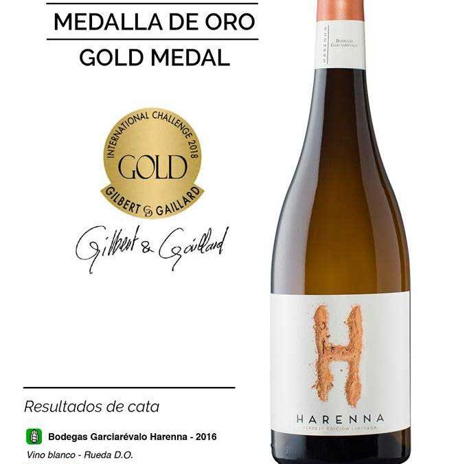 Bodega Garciarévalo oro en el concurso GILBERT&GALLIARD